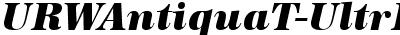 URWAntiquaTUltBol Italic