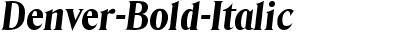Denver Bold Italic