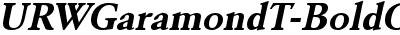 URWGaramondT Bold Oblique