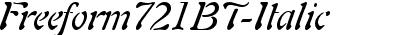 Freeform721BT-Italic