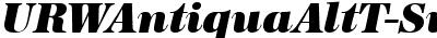 URWAntiquaAltTSup Italic
