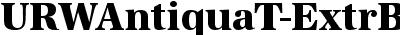 URWAntiquaT-ExtrBoldNarr