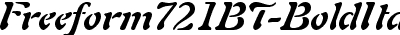 Freeform721BT-BoldItalic