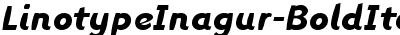 LinotypeInagur-BoldItalic