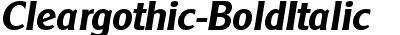 Cleargothic-BoldItalic