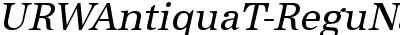 URWAntiquaT-ReguNarrObli