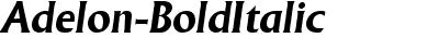Adelon Bold Italic