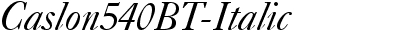Caslon540BT-Italic