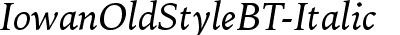IowanOldStyleBT-Italic