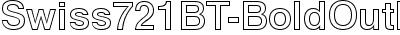 Swiss721BT-BoldOutline