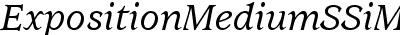 Exposition Medium SSi Medium Italic
