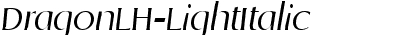 DragonLH-LightItalic