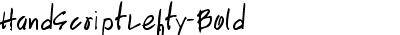 HandScriptLefty-Bold
