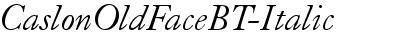 CaslonOldFaceBT-Italic