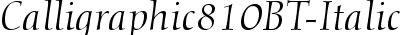 Calligraphic810BT-Italic