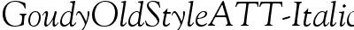 GoudyOldStyleATT-Italic
