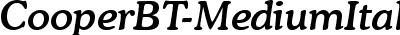 CooperBT-MediumItalic