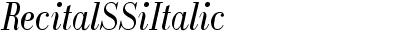 Recital SSi Italic