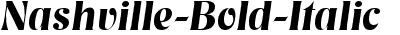 Nashville Bold Italic