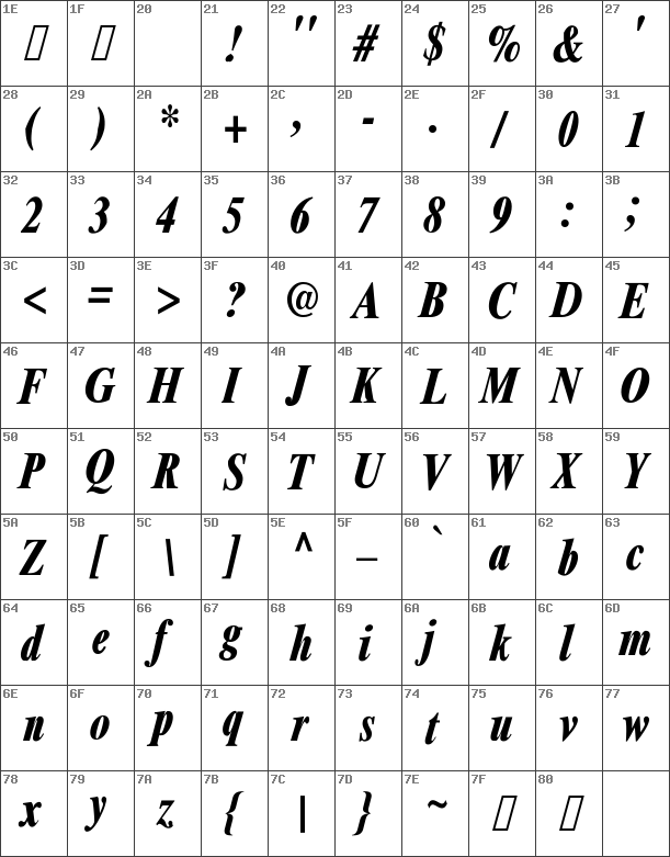 XeroxSerifNarrowFC-BoldItalic