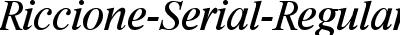 Riccione-Serial-RegularItalic DB