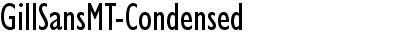 GillSansMT-Condensed