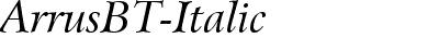 ArrusBT-Italic
