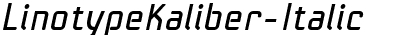 Linotype Kaliber Italic