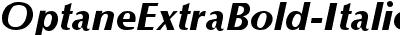 OptaneExtraBold-Italic