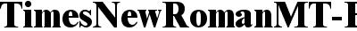 Times New Roman MT Extra Bold