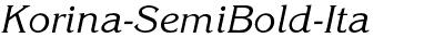Korina-SemiBold-Ita