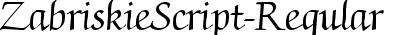 ZabriskieScript-Regular
