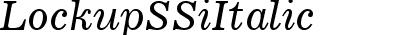 Lockup SSi Italic