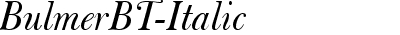 BulmerBT-Italic