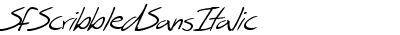 SFScribbledSansItalic