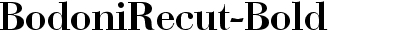 BodoniRecut-Bold