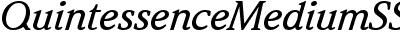 Quintessence Medium SSi Medium Italic