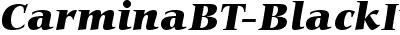CarminaBT-BlackItalic