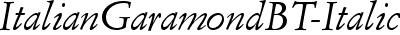 ItalianGaramondBT-Italic
