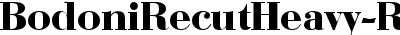 BodoniRecutHeavy-Regular
