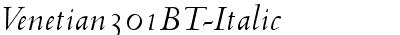 Venetian301 BT Italic