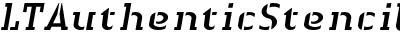 LTAuthenticStencil-Italic