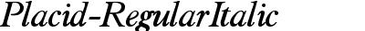 Placid-RegularItalic