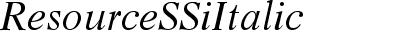 Resource SSi Italic