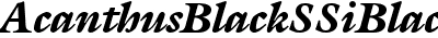 Acanthus Black SSi Black Italic