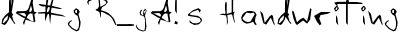 da gr ya  s handwriting