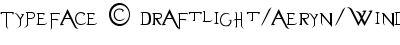 typeface   draftlight aer...